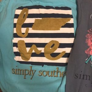 Lot of simply southern tees